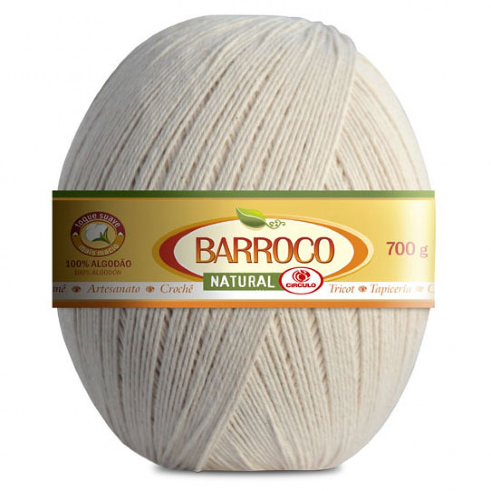 Barbante Barroco Natural Nº6 700g