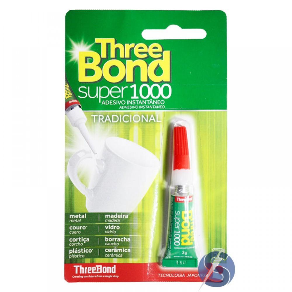 Cola Three Bond Super 1000 2 gramas