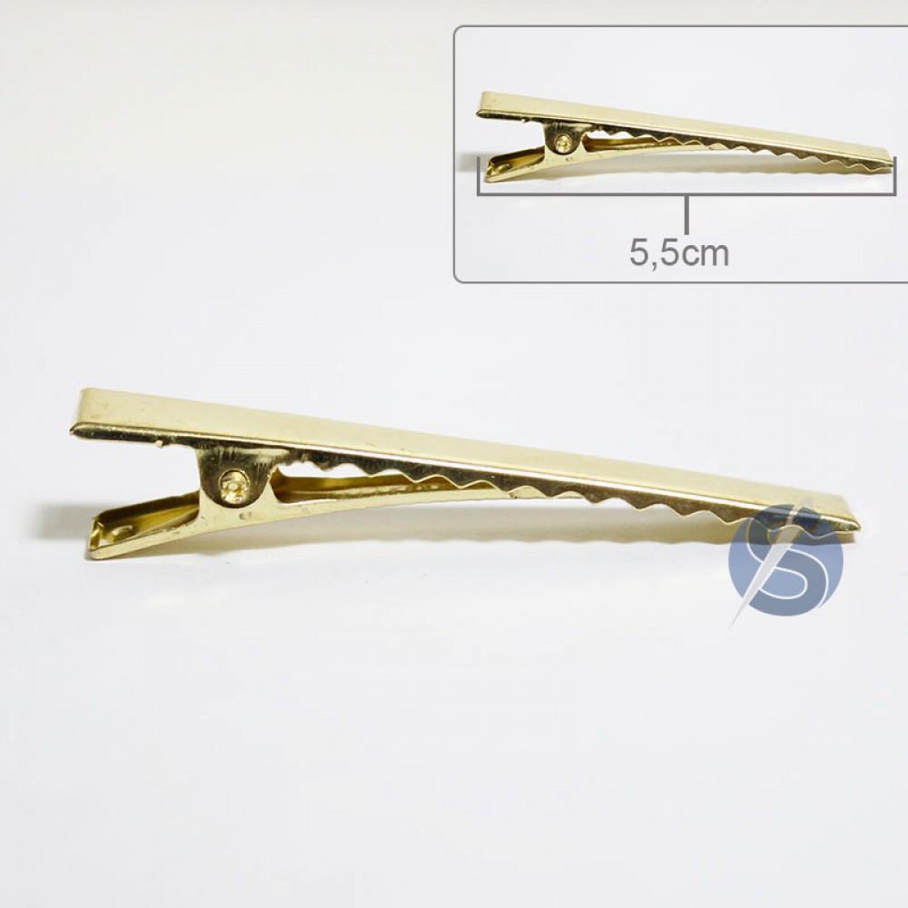 Bico de Pato Dourado Metal - 50 unidades - 5,5cm