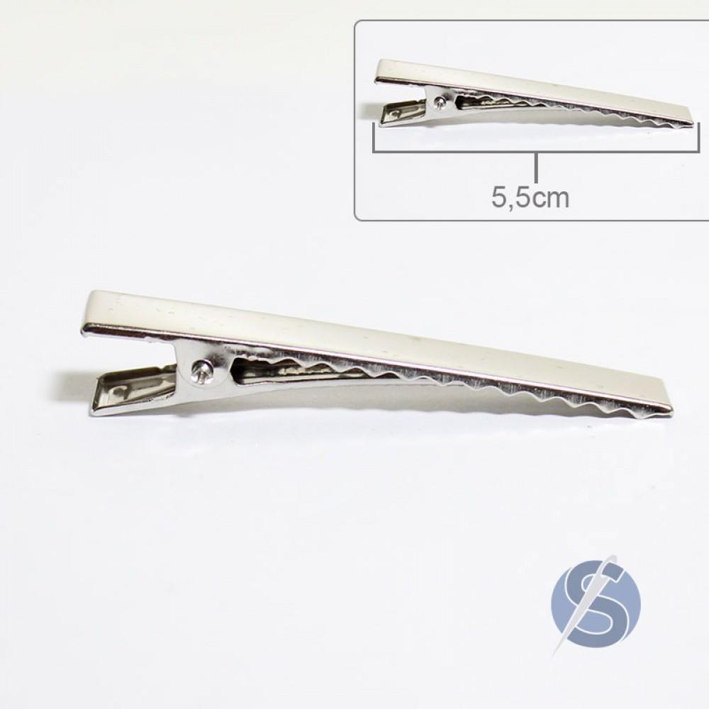 Bico de Pato Prata Metal 50 unidades 5,5cm