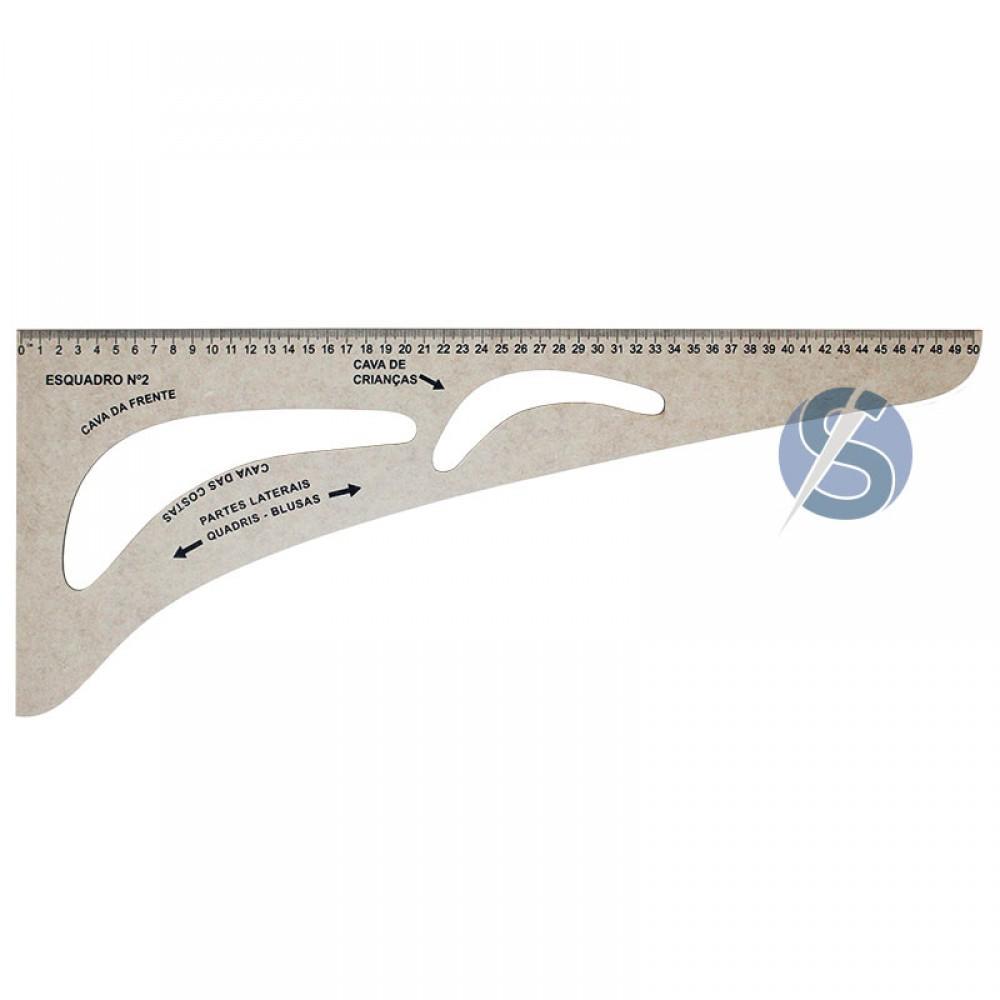 Esquadro de MDF N2 - 50cm
