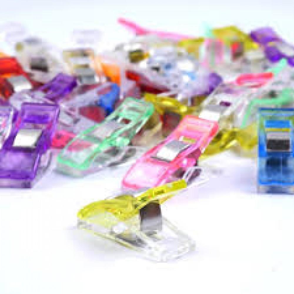 Clips Prendedores para Costura Patchwork Quilting cores diversas 6 unidades