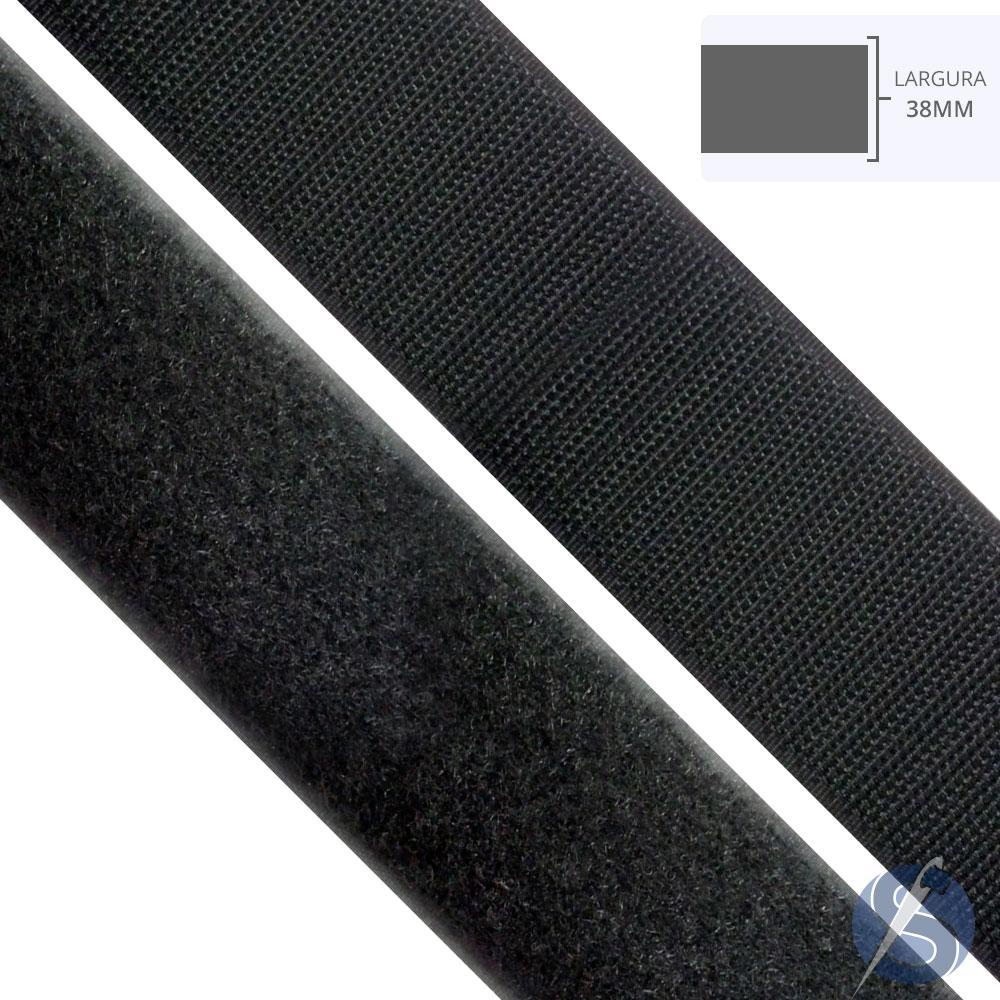 Velcro Preto 38mm Peça 25 mts