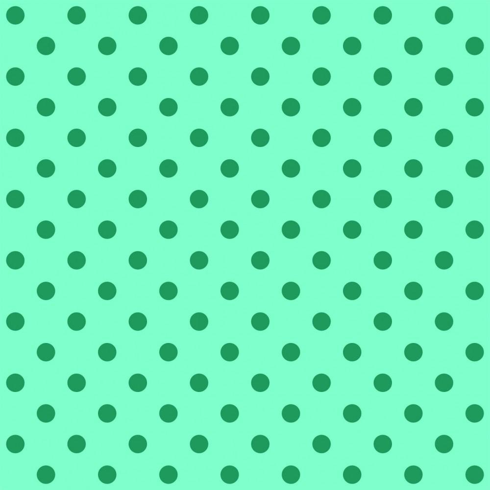 Tecido Tricoline Verde Tiffany Poá Grande Verde