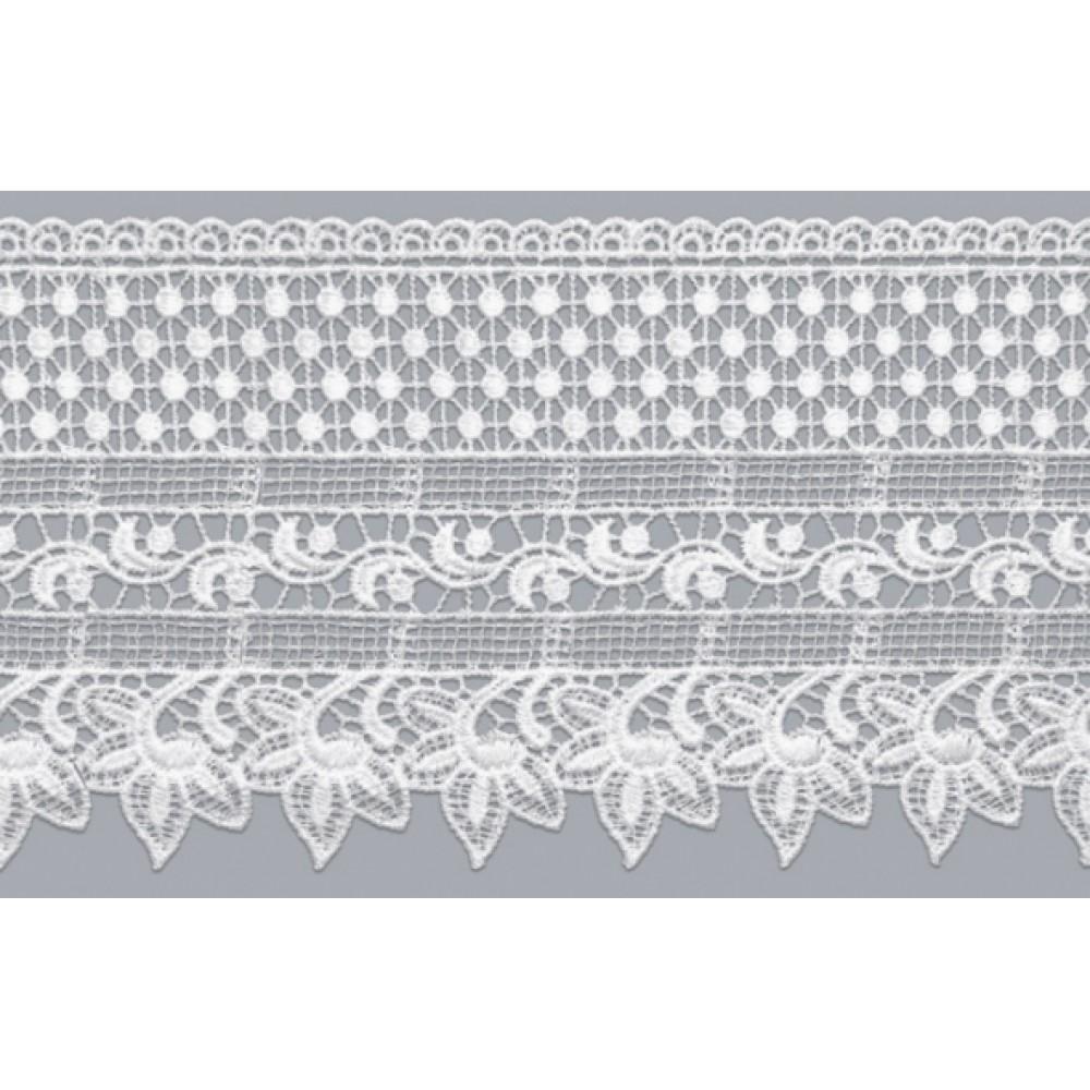 Renda Guipir branco GP027 COR 001