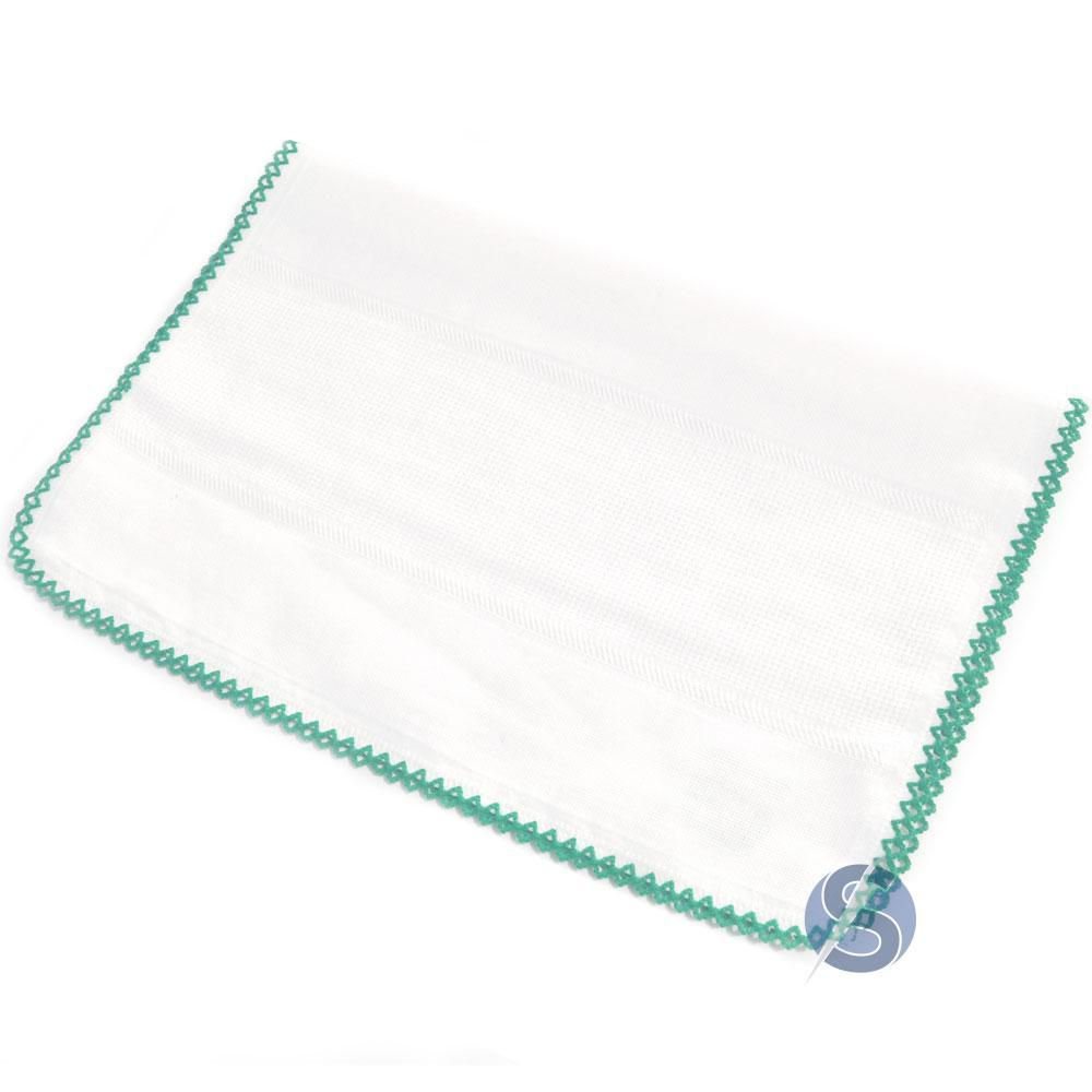 Fralda com Crochê Verde para Ponto Cruz