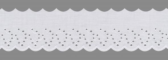 Bordado Inglês Branco BP087-075 019 7,5cm x 13,70 metros