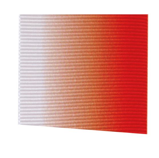 Fita Gorgurão Multicolor Coral e Branco