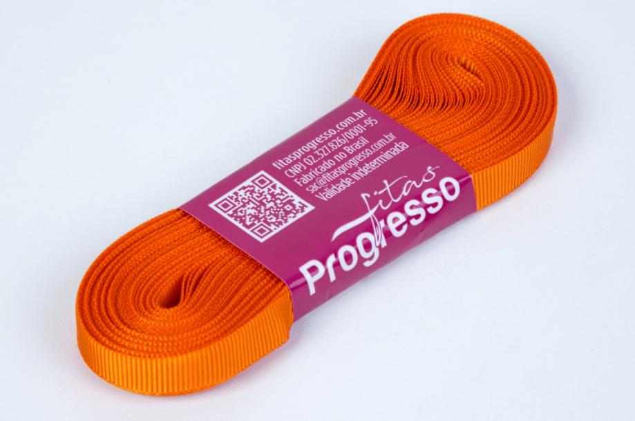 Fita Gorgurão Progresso Laranja 7mm