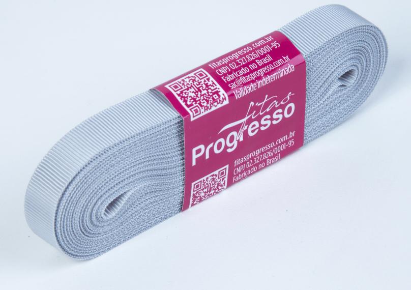 Fita Gorgurão Progresso Prata 11mm