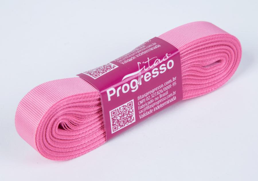 Fita Gorgurão Progresso Rosa 15mm
