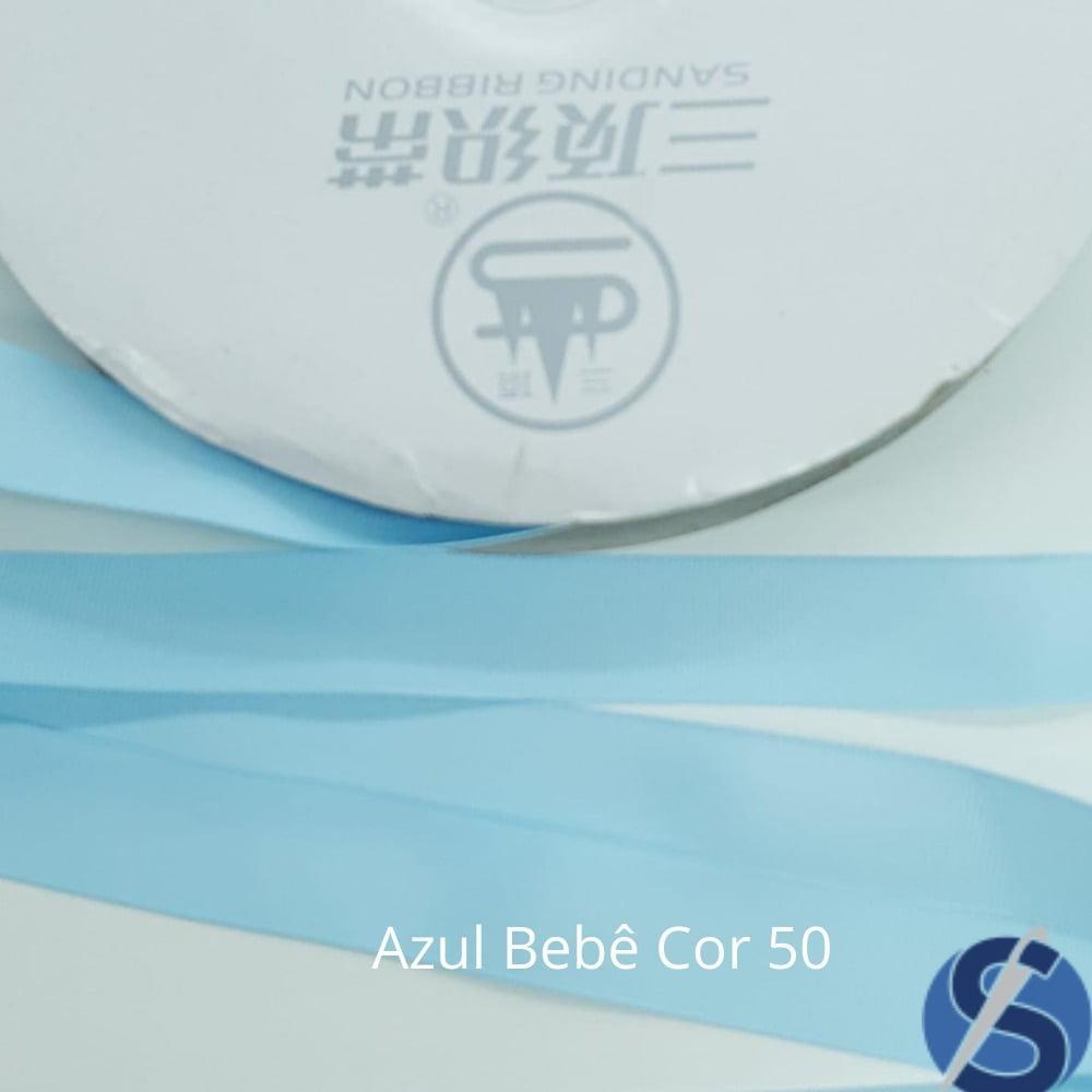 Fita Gorgurão Sanding Azul 50 22 mm Metro