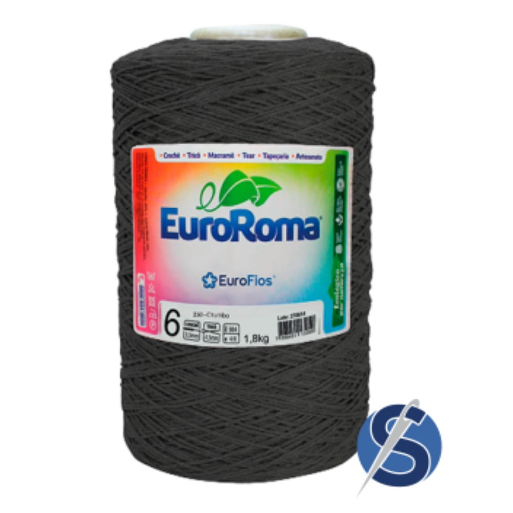 Barbante EuroRoma Nº6 Chumbo 1,800 KG