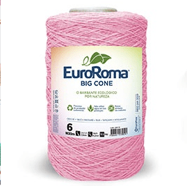 Barbante EuroRoma Nº6 Rosa Bebê 1,800 KG