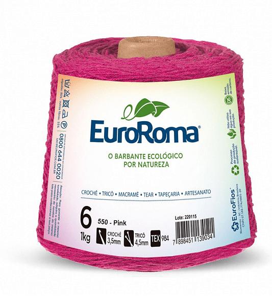 Barbante EuroRoma Nº6 Pink 600 Gramas