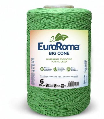 Barbante EuroRoma Nº6 Verde Limão 1,800 KG
