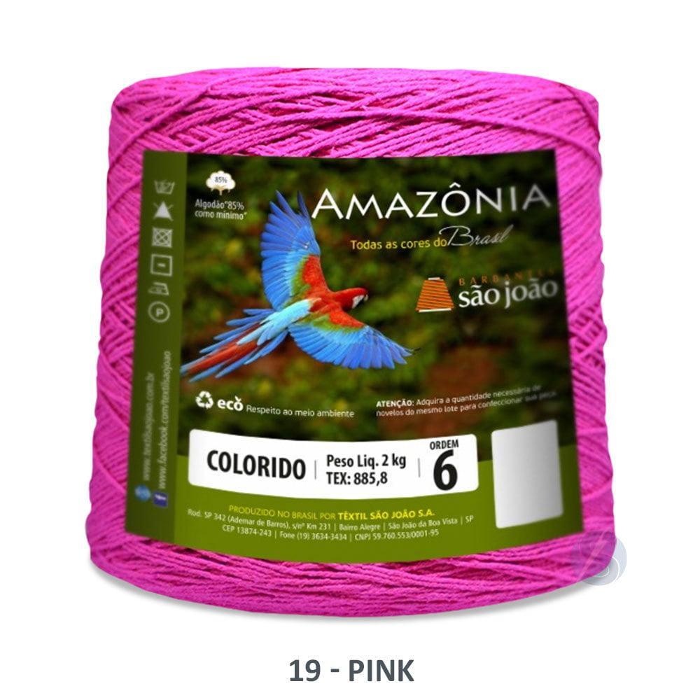 Barbante São João Amazônia 19 Pink Nº6 2kg