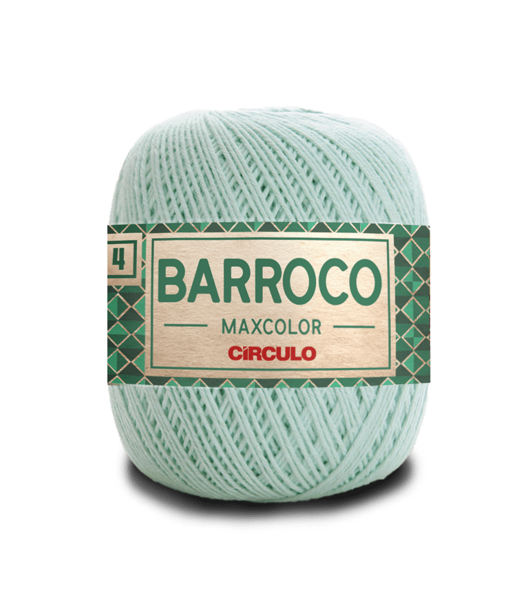 Barbante Barroco Maxcolor nº4 2204 Verde Candy 200gr
