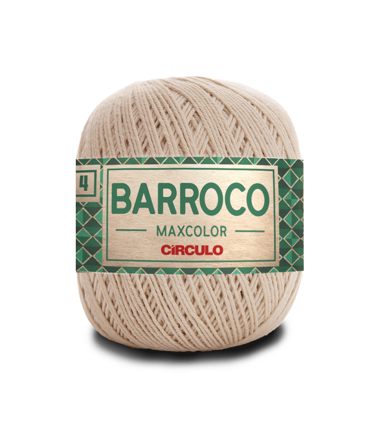 Barbante Barroco Maxcolor nº4 7684 Porcelana 200gr