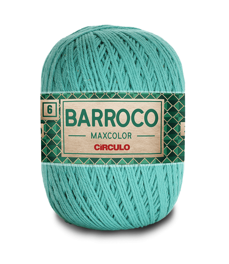 Barbante Barroco Maxcolor nº6 5669 Tiffany 400 gramas