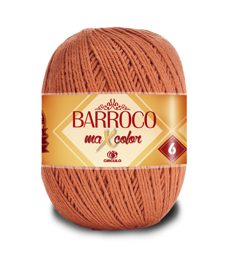 Barbante Barroco Maxcolor nº6 7259 Bronze 400g