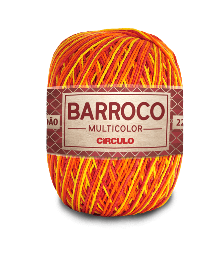 Barbante Barroco Multicolor nº6 9165 Hibísco Amarelo 400g
