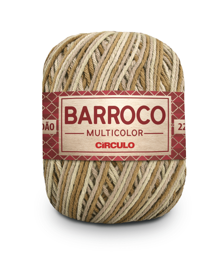 Barbante Barroco Multicolor nº6 9435 Deserto 400g