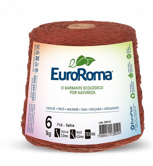 Barbante EuroRoma Nº6 Telha 600 Gramas