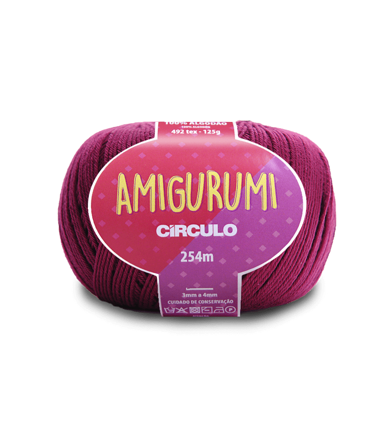 Linha Amigurumi 3154 Vinho 254m