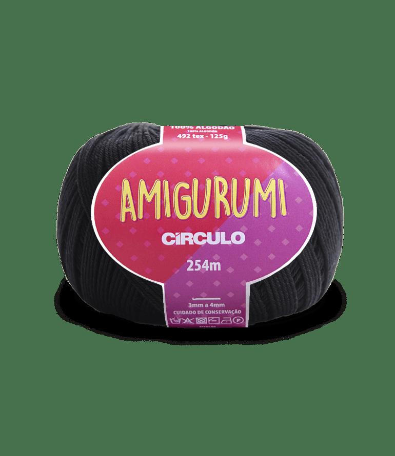 Linha Amigurumi 8990 Preto 254m