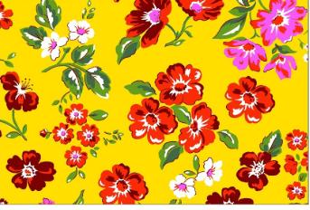 Tecido Chita Amarelo Floral