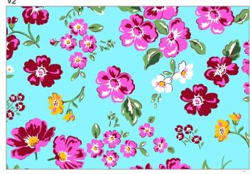 Tecido Chita Azul Floral