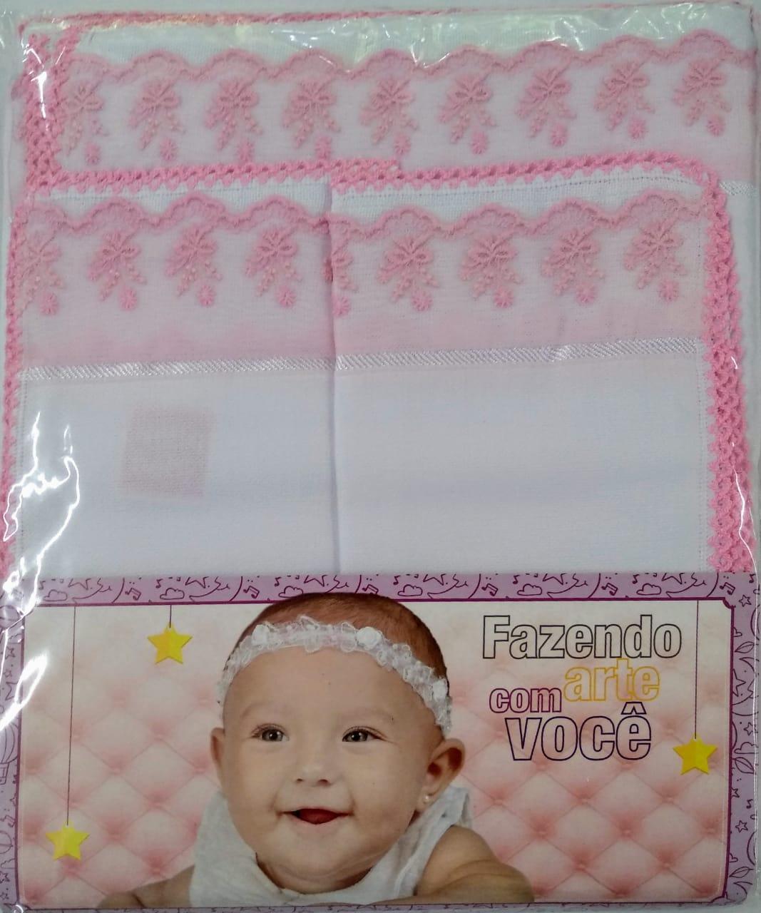 Kit Meu Bebê Branco Com Rosa