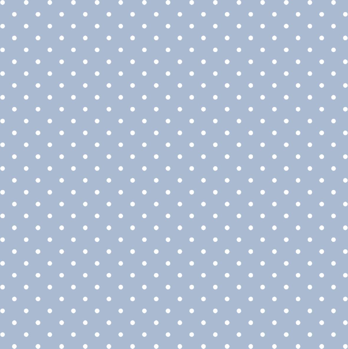 Tecido Tricoline Azul Bebê Mini Poá Branco