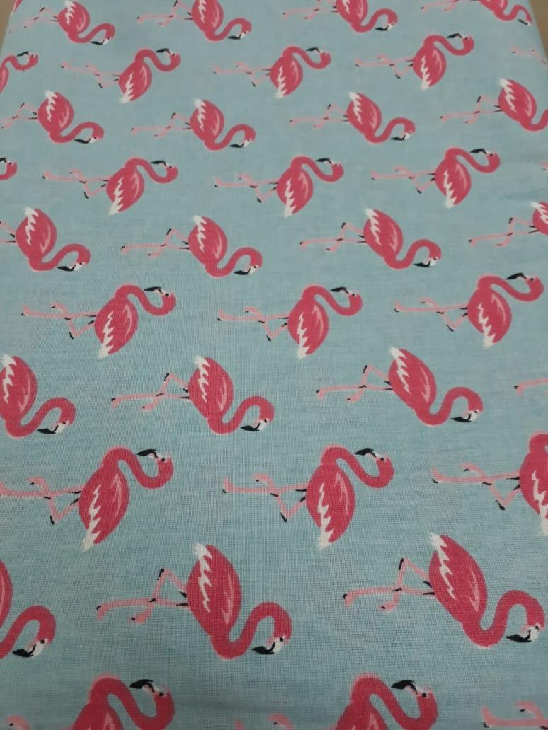 Tecido Tricoline Azul Flamingo