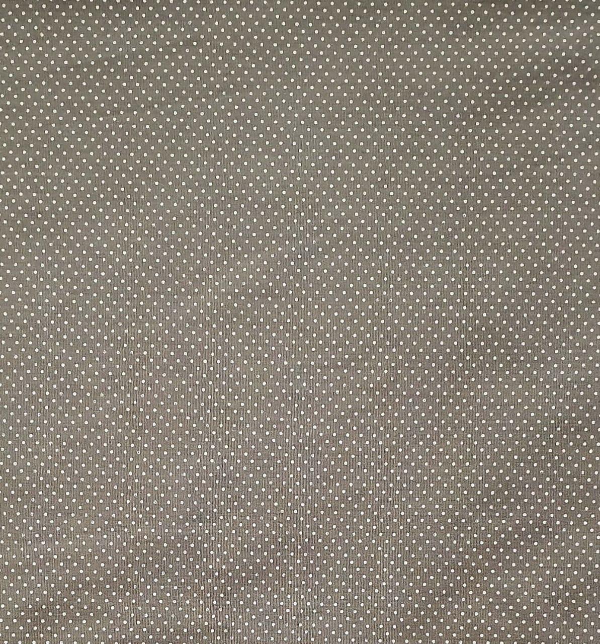 Tecido Tricoline Camurça Mini Poá Branco