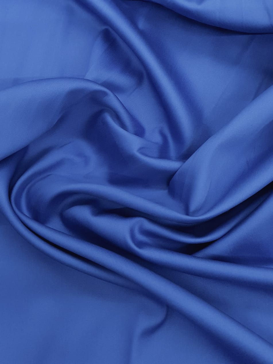 Tecido Tricoline Liso Azul Bic Acetinado