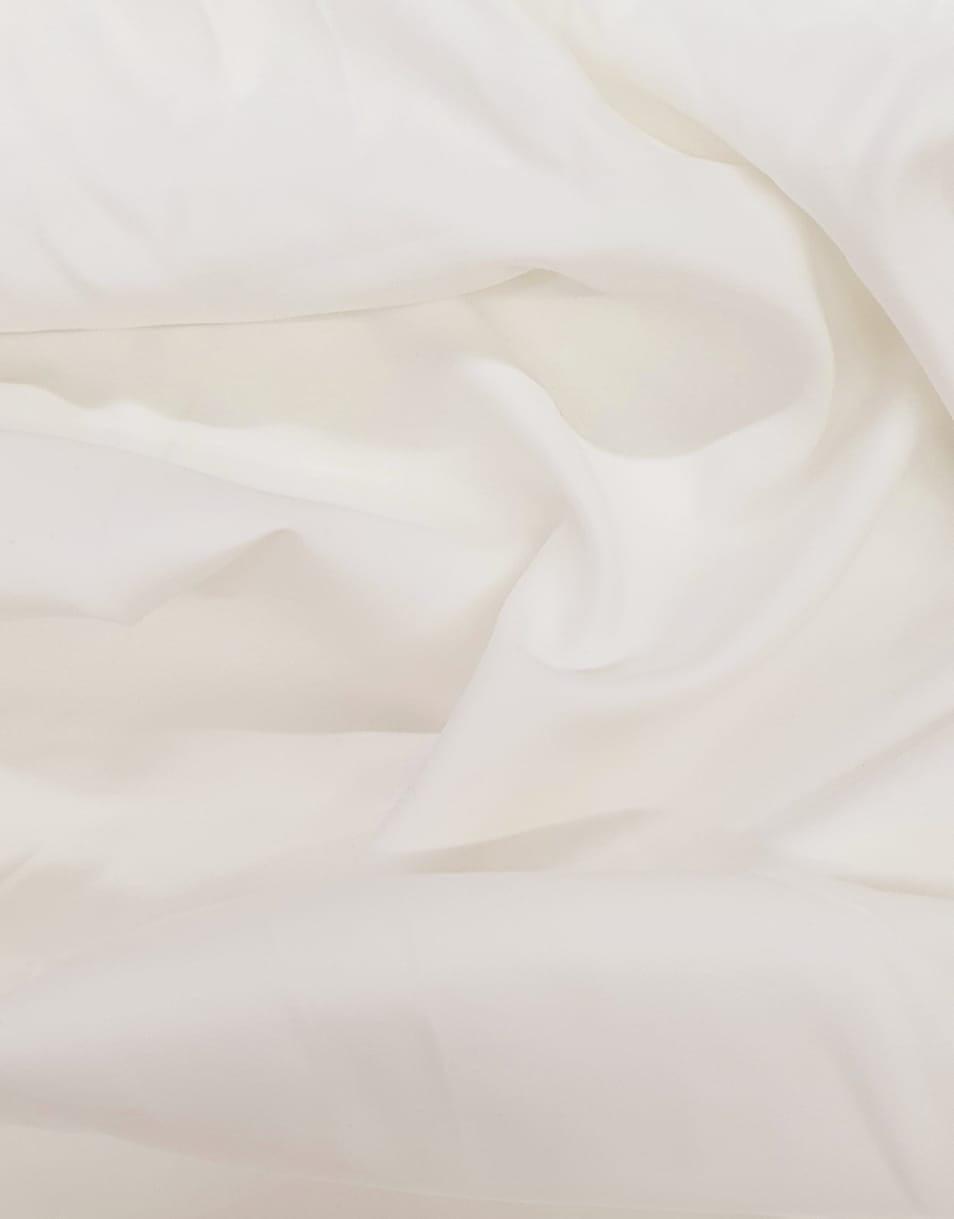Tecido Tricoline Liso Off White Acetinado