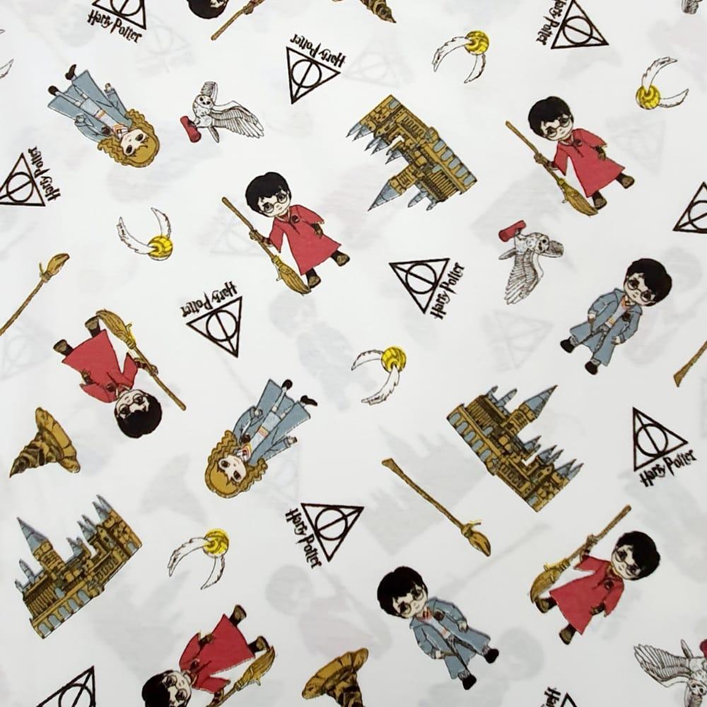 Tecido Tricoline Misto Harry Potter