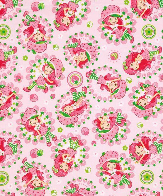 Tecido Tricoline Moranguinho Rosa