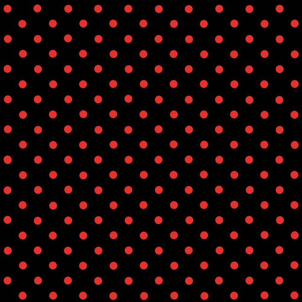 Tecido Tricoline Preto Poá Pequeno Vermelho