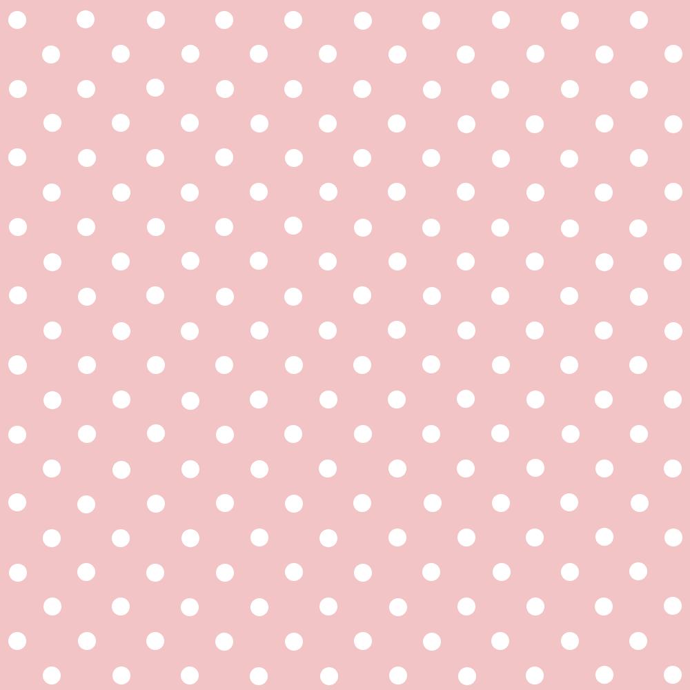 Tecido Tricoline Rosa Bebê Poá Pequeno Branco