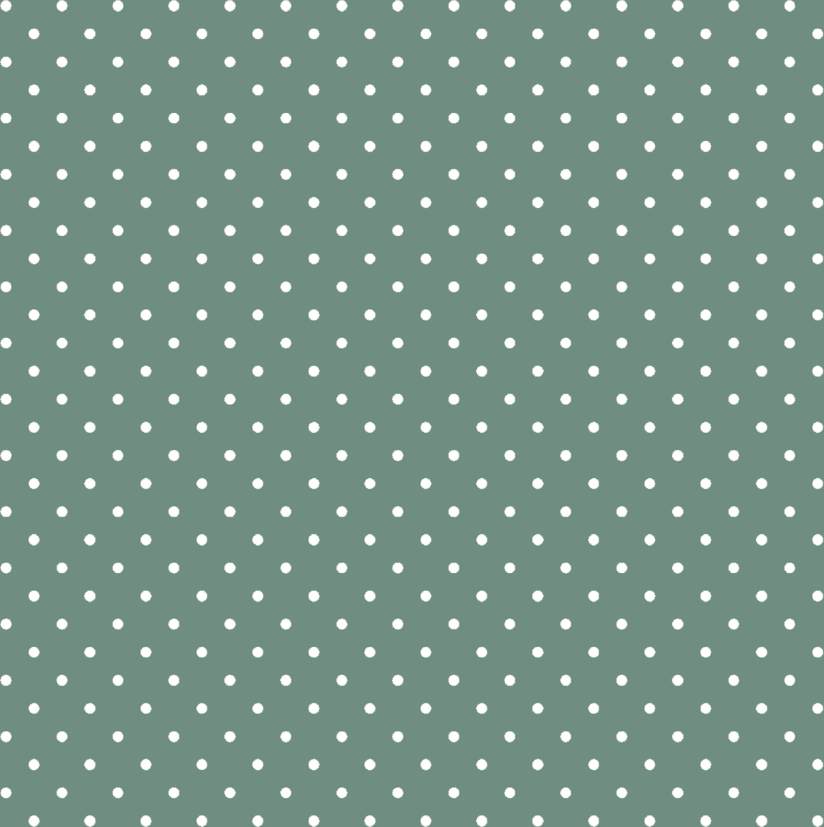 Tecido Tricoline Verde Mini Poá Branco