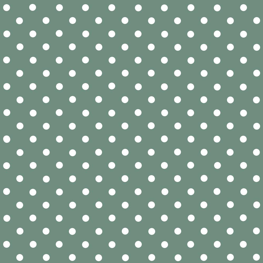 Tecido Tricoline Verde Oliva Poá Médio Branco