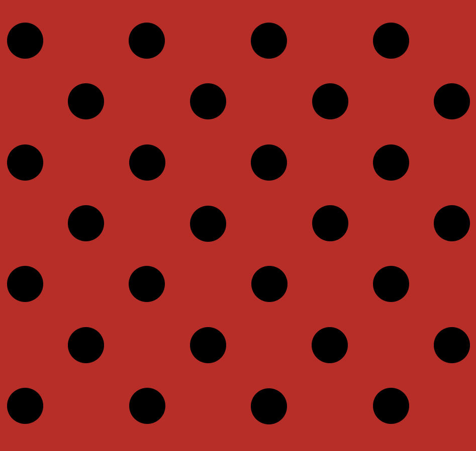 Tecido Tricoline Vermelho Poá Médio Preto
