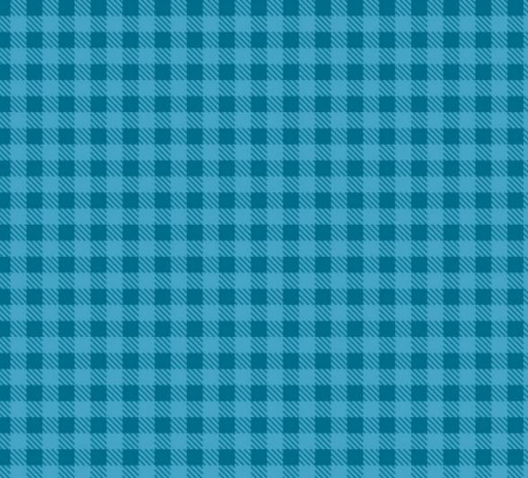 Tecido Tricoline Xadrez Azul Turquesa