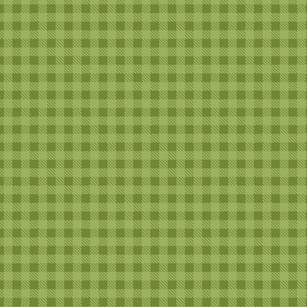 Tecido Tricoline Xadrez Verde Grama