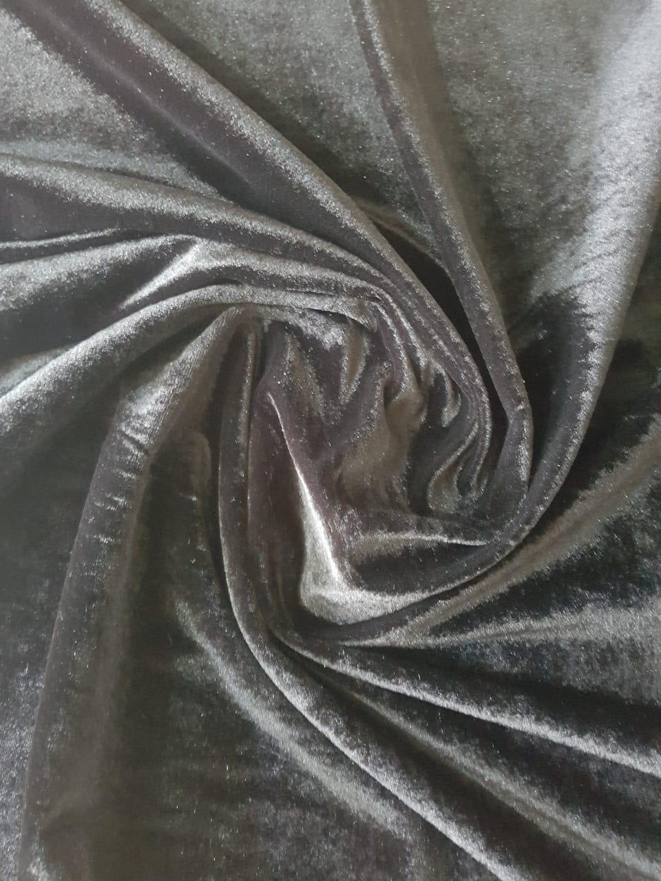 Tecido Veludo Plush Black Jet