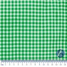 Tecido Tricoline Xadrez Branco com Verde