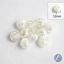 Passante ABS Flor Branco nº 12 - 10 gramas